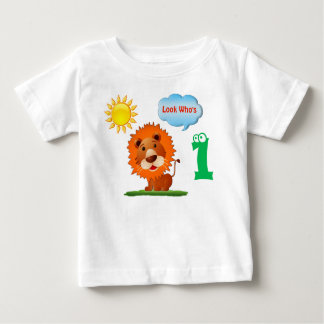 Lion Look Who's 1,  First Birthday Shirt for Boys