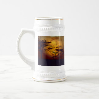 Lion Looking Over African Sunset Mug
