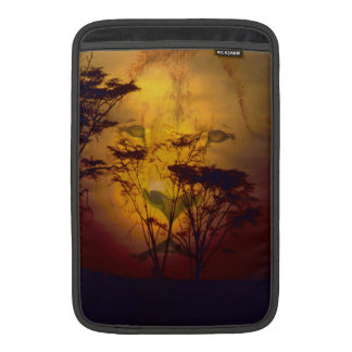 Lion Looking Over African Sunset Sleeve For MacBook Air