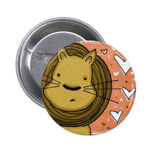 Lion Love 2 Inch Round Button