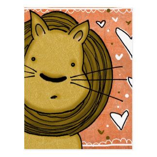 Lion Love Postcard