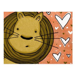 Lion Love Post Card