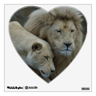 Lion love wall decal