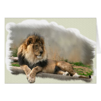 Lion Lovers Art Gifts Card