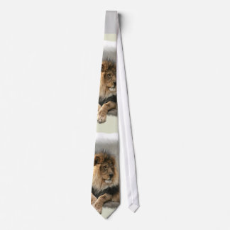 Lion Lovers Art Gifts Neck Tie