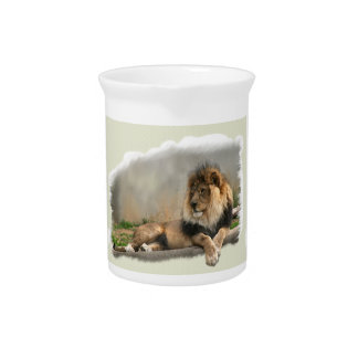 Lion Lovers Art Gifts Beverage Pitchers