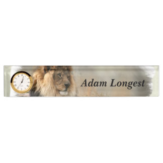 Lion Lovers Art Name Plate