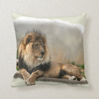 Lion Lovers King of the Jungle Throw Pillows