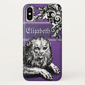 Lion Lover's Purple Medieval Goth Grunge Lady's iPhone X Case