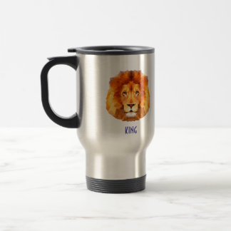 Lion Low poly design. Lion Travel/Commuter Mug