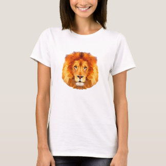Lion low poly design Women's Basic T-Shirt