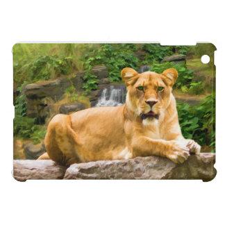 Lion Lying on Rock iPad Mini Covers