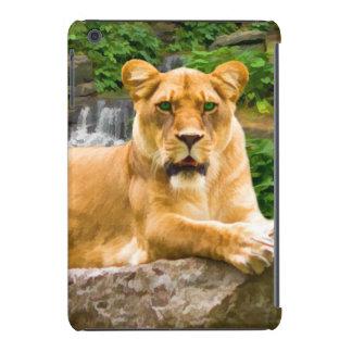 Lion Lying on Rock iPad Mini Retina Case