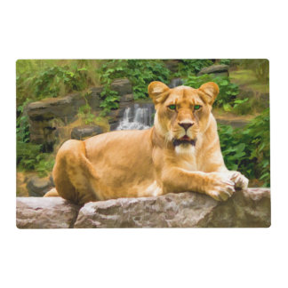 Lion Lying on Rock Placemat