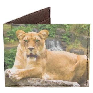 Lion Lying on Rock Tyvek Wallet