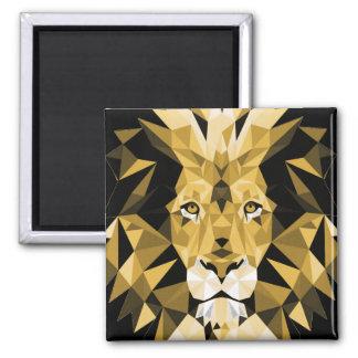 Lion 2 Inch Square Magnet