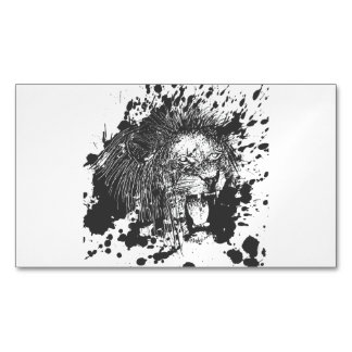 Lion Magnetic Business Card