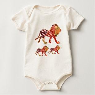 2b18aae1dd667 LION - Majestic KING of animals Baby Bodysuit