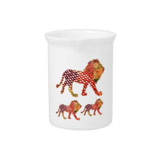 LION -  Majestic KING of animals Pitcher