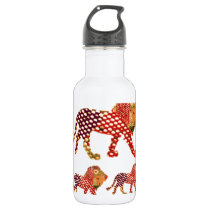 LION -  Majestic KING of animals Water Bottle