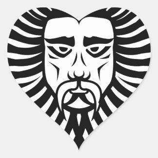Lion man heart sticker