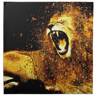 Lion Mane Hair Fur Cat Predator Males Head Cloth Napkin
