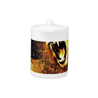 Lion Mane Hair Fur Cat Predator Males Head Teapot