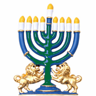 Lion Menorah Magnet