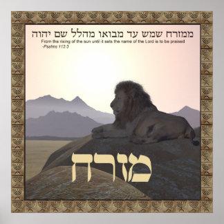 Lion Mizrach Poster