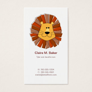 Lion Mommy Calling Cards