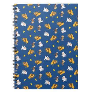 Lion, Momo & Monkey Pattern Notebook