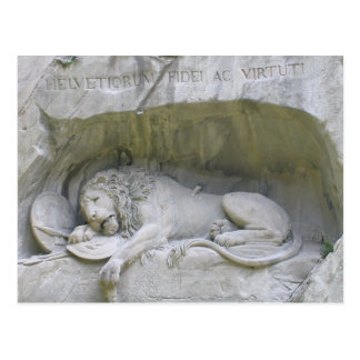 Lion Monument Lucerne Postcard