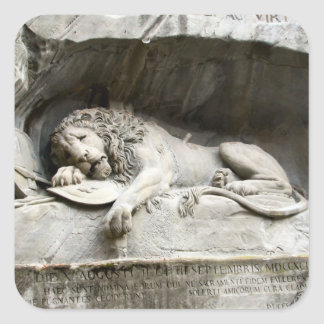Lion monument, Lucerne Square Sticker