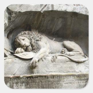 Lion monument Lucerne Stickers