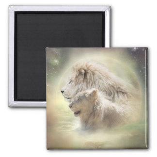 Lion Moon Art Magnet