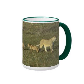 LION MOTHER AND CUBS COFFEE MUG