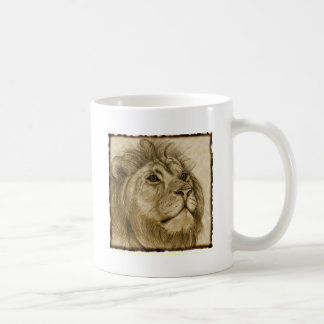LION CLASSIC WHITE COFFEE MUG