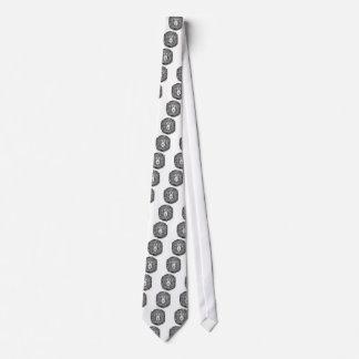 Lion nest black and white tie