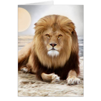 Lion Ocean Photo Paint Card