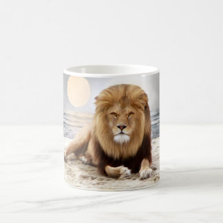 Lion Ocean Photo Paint Classic White Coffee Mug