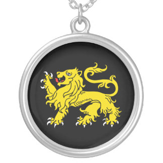 Lion of England Silver Heraldry Necklace