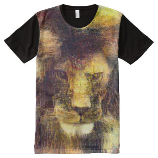Lion of God Impressionist Oil Painting Graphic Tee All-Over Print Shirt