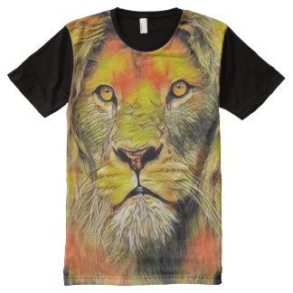 Lion of God Jesus Acrylic Portrait Painting All-Over-Print Shirt