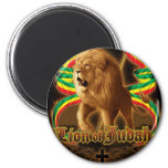 Lion of Judah 2 Inch Round Magnet