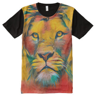 Lion of Judah Acrylic Painting All-Over-Print T-Shirt