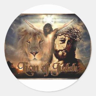 Lion of Judah Classic Round Sticker