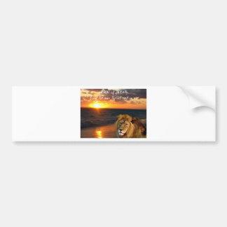 Lion of Judah Collection Car Bumper Sticker