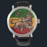 "Lion of Judah Ethiopian Flag Watch<br><div class=""desc"">Lion of Judah Ethiopian Flag</div>"