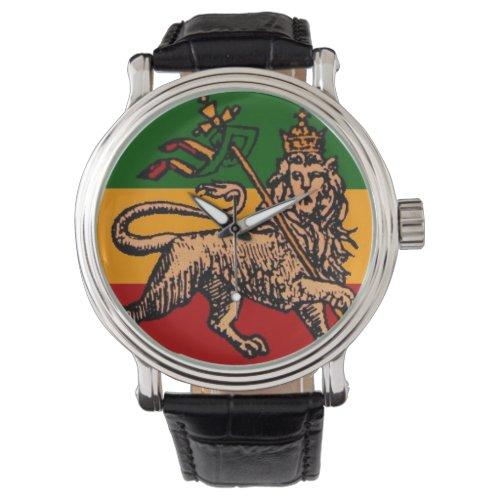 Lion of Judah Ethiopian Flag Watch