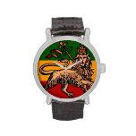 Lion of Judah Ethiopian Flag Wristwatches